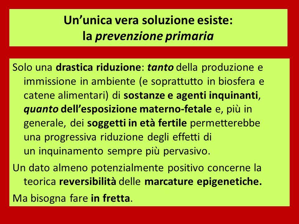 Un'unica vera soluzione esiste: la prevenzione primaria