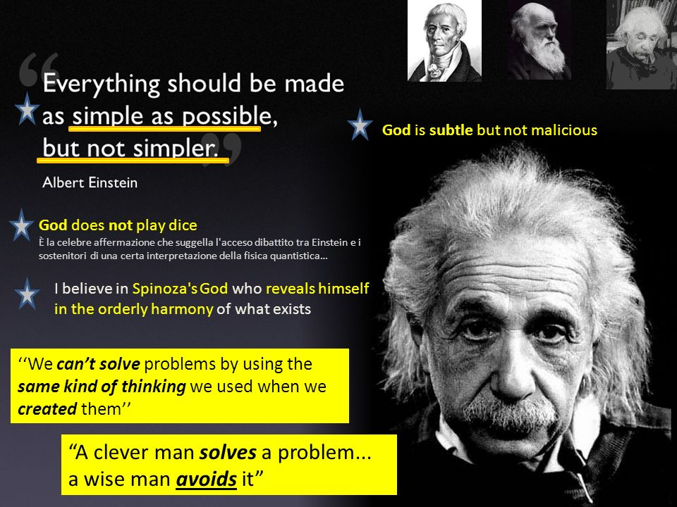 A clever man solves a problem... a wise man avoids it