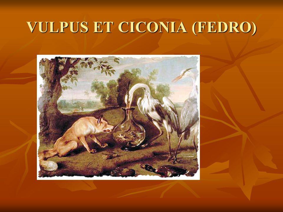 VULPUS ET CICONIA (FEDRO)