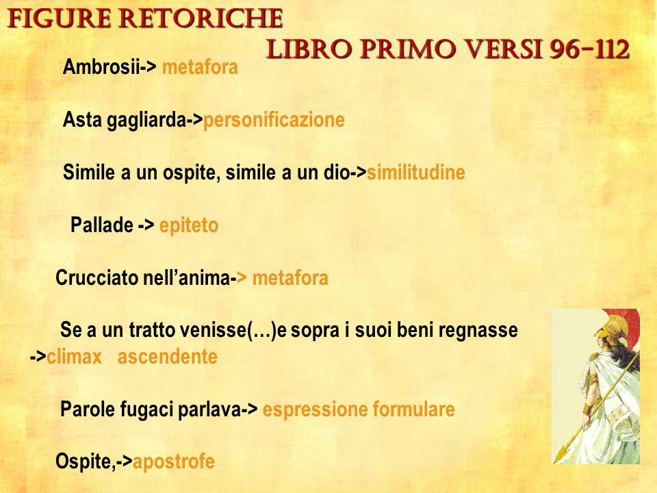 figure retoriche Libro primo versi 96-112