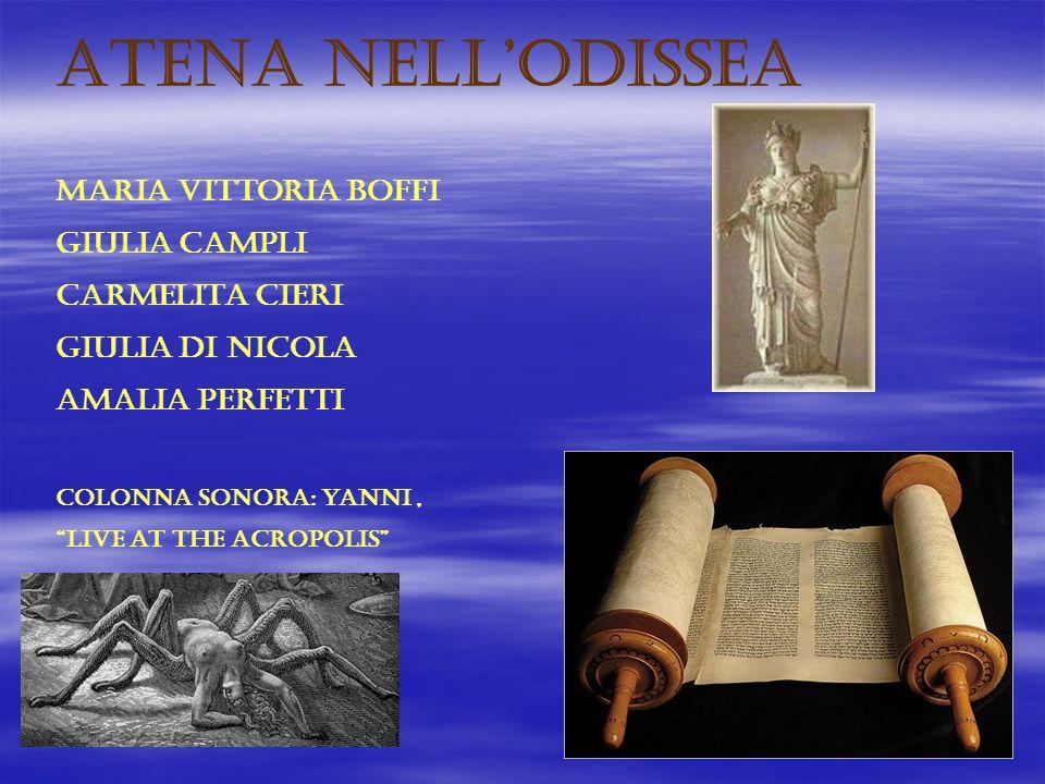 ATENA NELL'ODISSEA MARIA VITTORIA BOFFI GIULIA CAMPLI CARMELITA CIERI