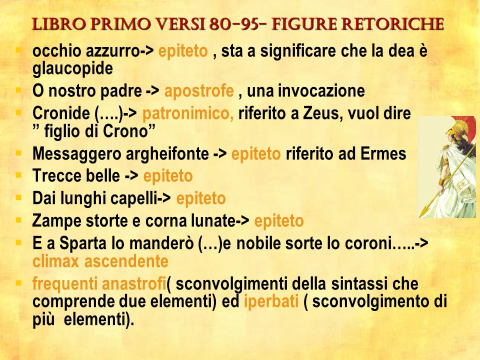 LIBRO PRIMO VERSI 80-95- figure retoriche