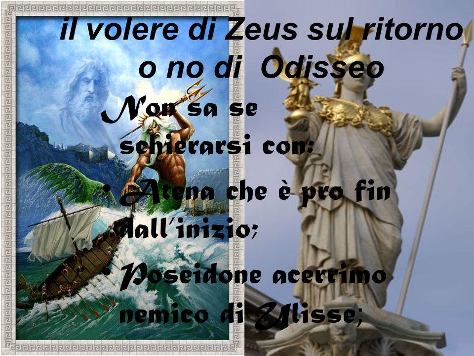 il volere di Zeus sul ritorno o no di Odisseo