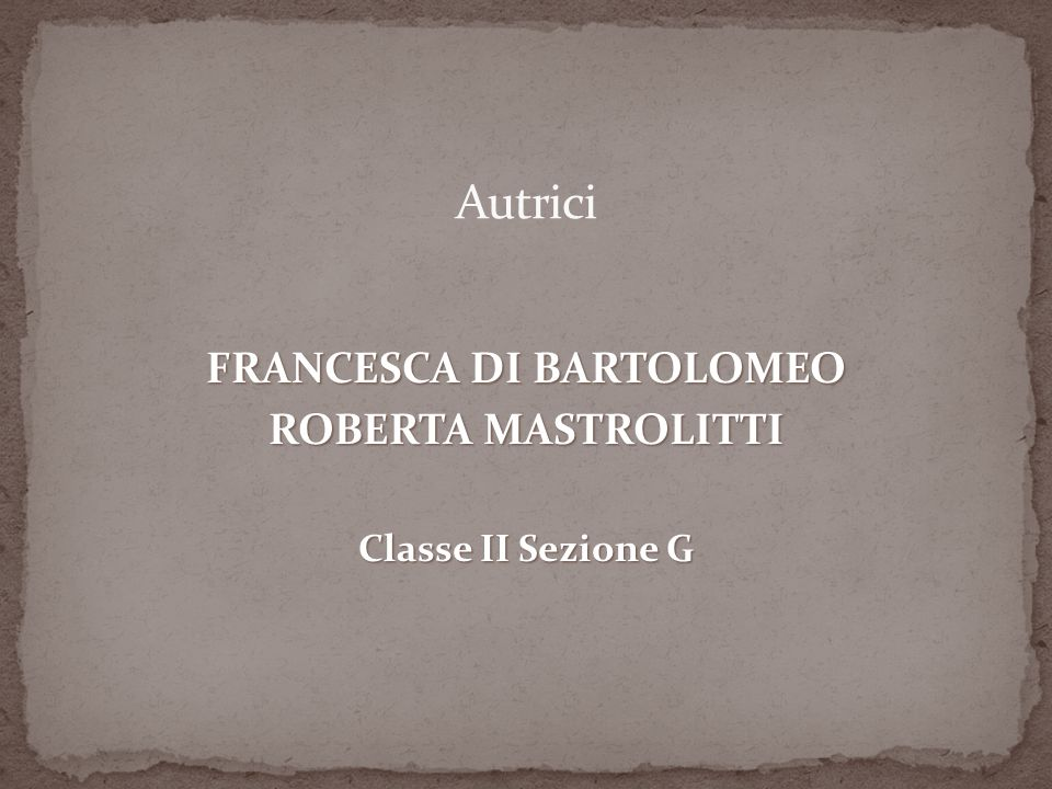 FRANCESCA DI BARTOLOMEO
