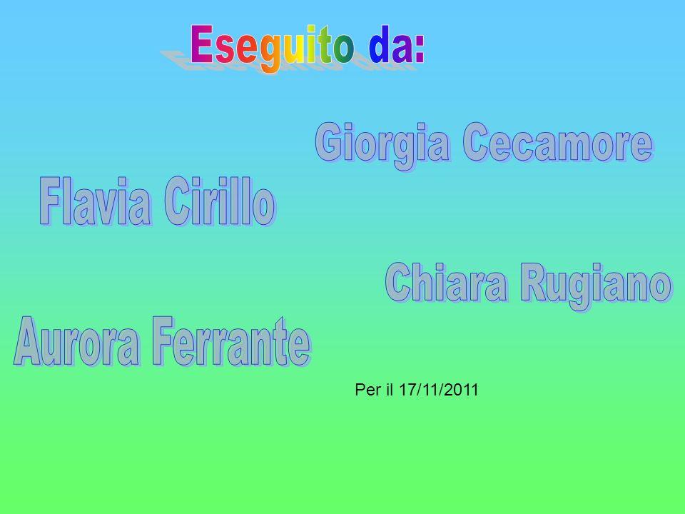 Eseguito da: Giorgia Cecamore Flavia Cirillo Chiara Rugiano