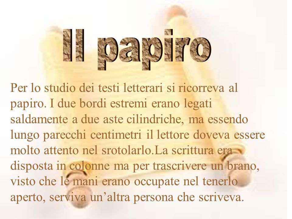il papiro Il papiro.