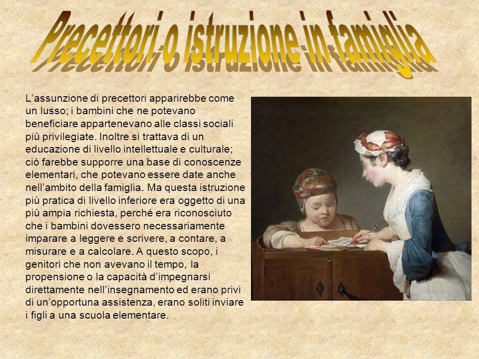 Precettori o istruzione in famiglia