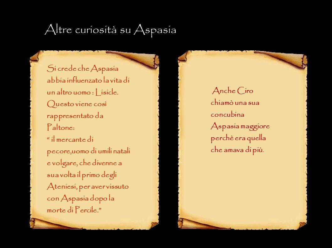 Altre curiosità su Aspasia