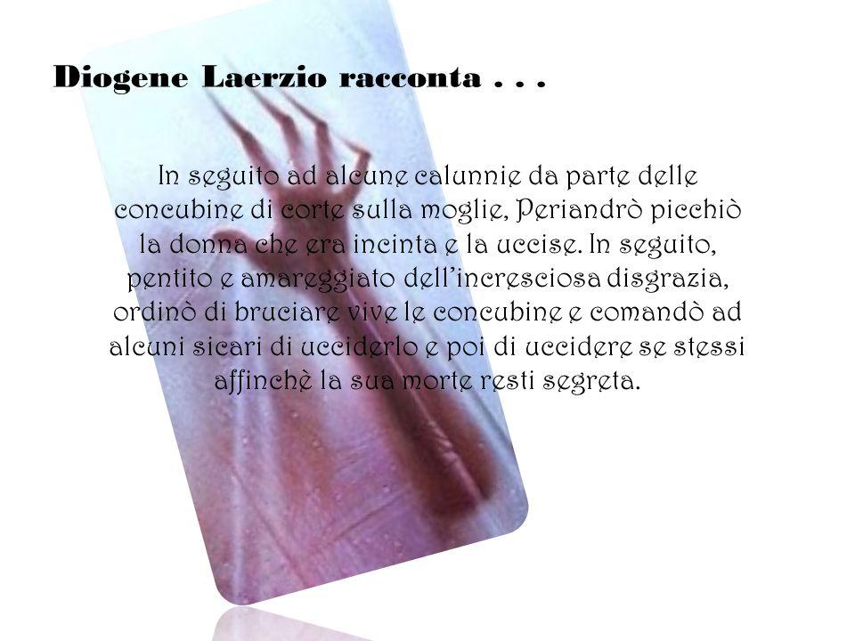 Diogene Laerzio racconta . . .