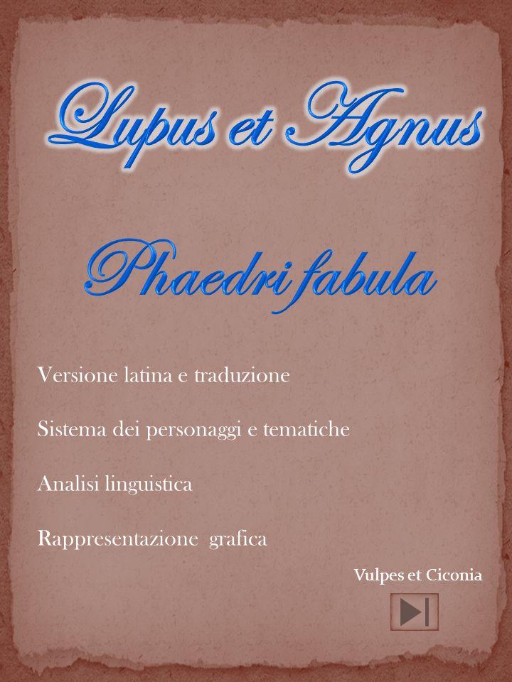 Lupus et Agnus Phaedri fabula Versione latina e traduzione