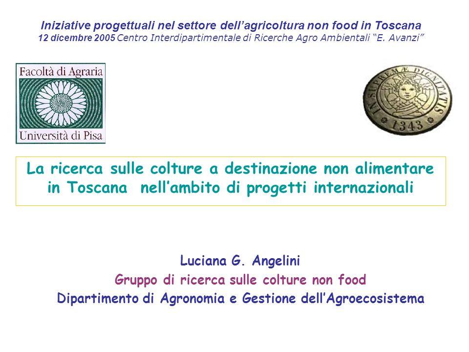 Iniziative progettuali nel settore dell'agricoltura non food in Toscana
