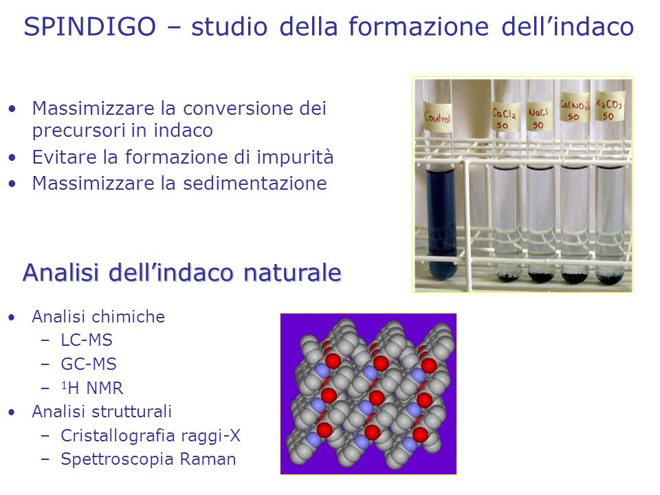 Analisi dell'indaco naturale