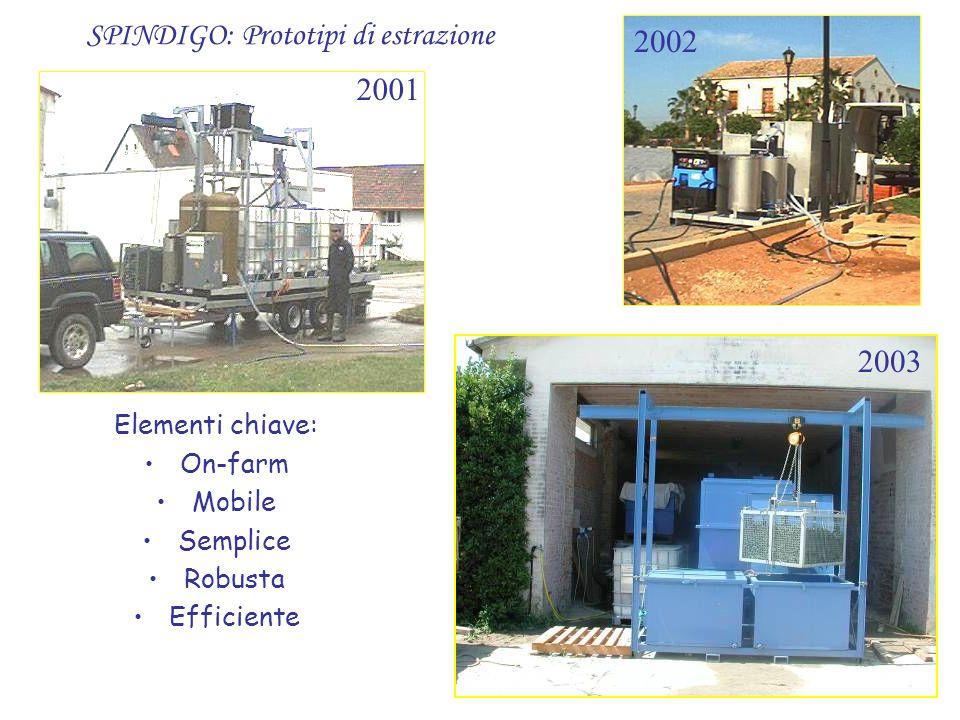 SPINDIGO: Prototipi di estrazione