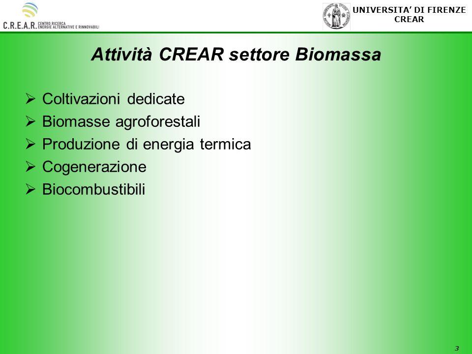 Attività CREAR settore Biomassa