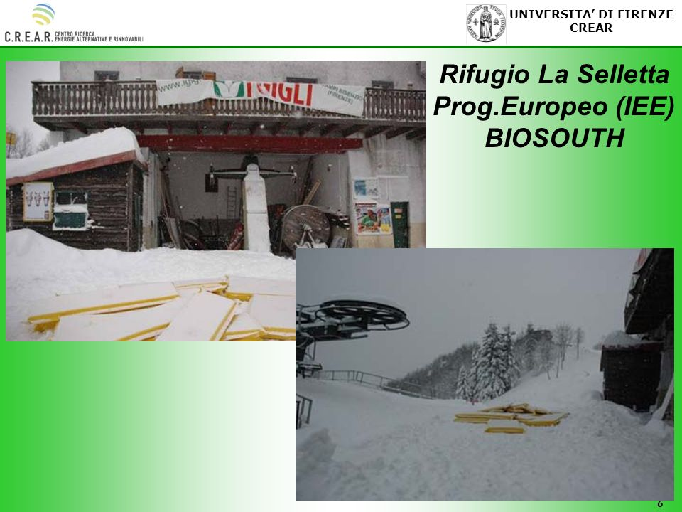 Rifugio La Selletta Prog.Europeo (IEE) BIOSOUTH