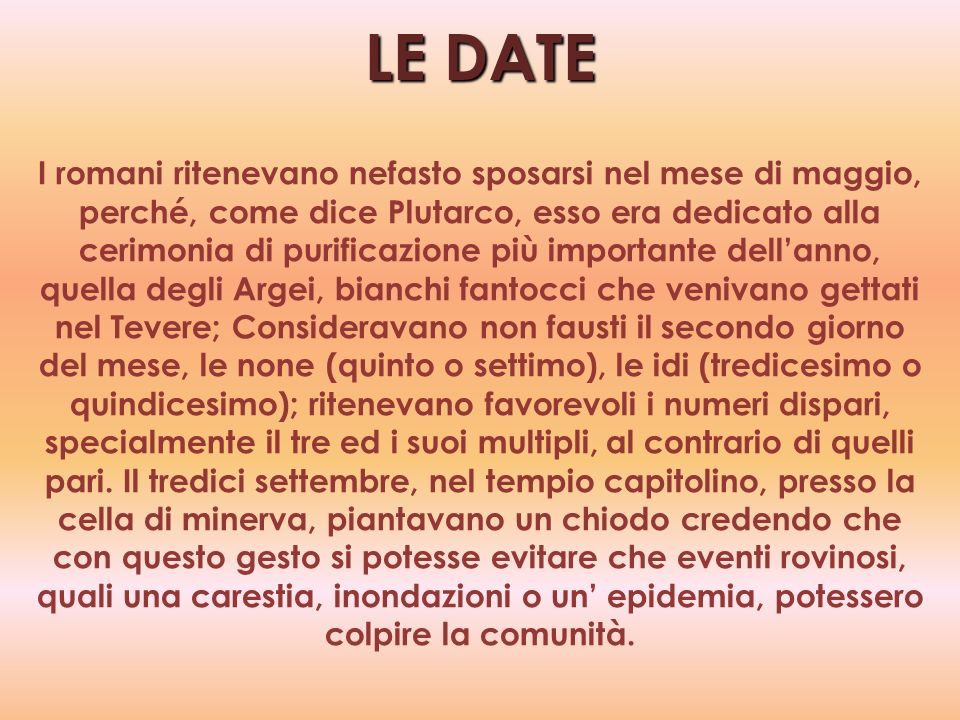 LE DATE