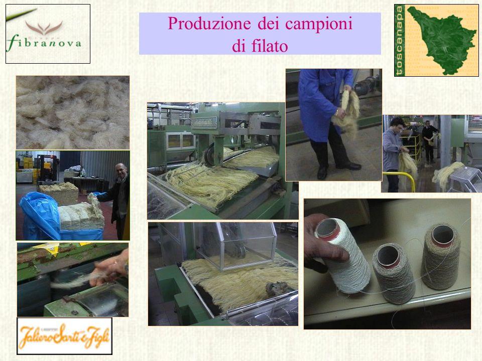 Produzione dei campioni di filato