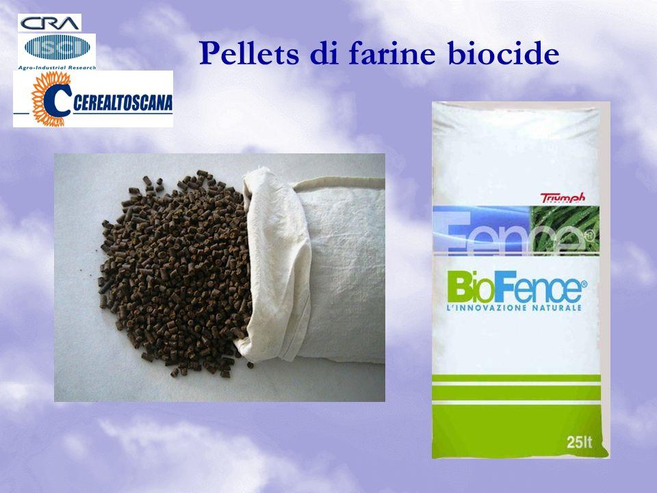 Pellets di farine biocide