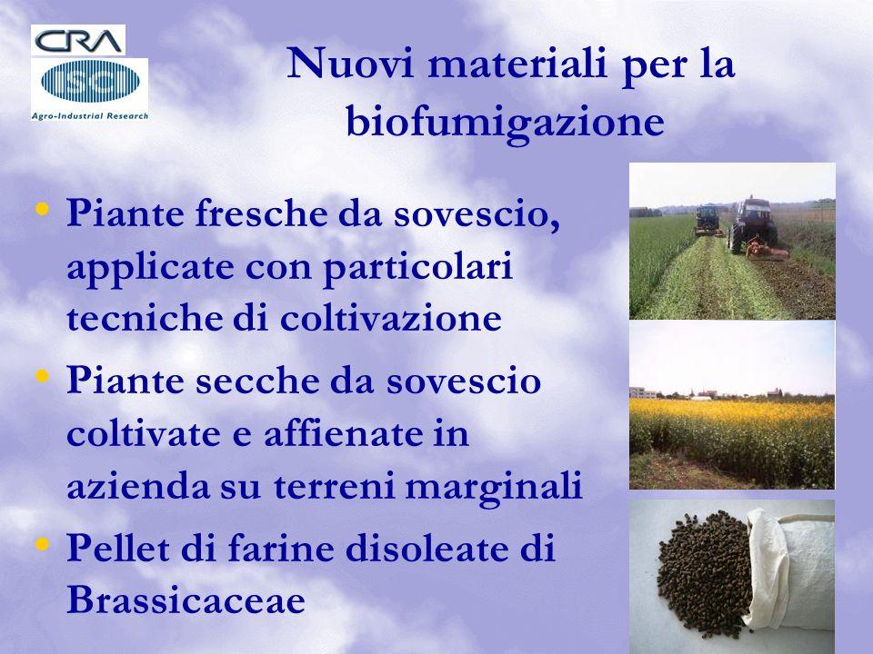 Nuovi materiali per la biofumigazione