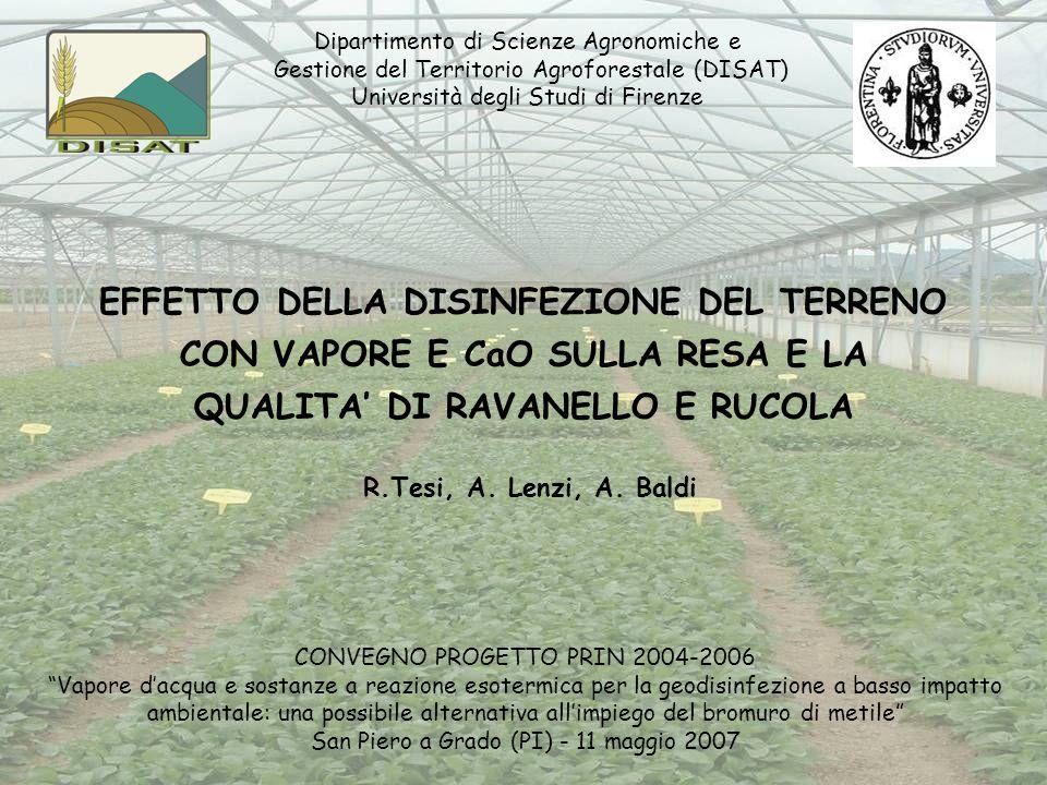 Dipartimento di Scienze Agronomiche e