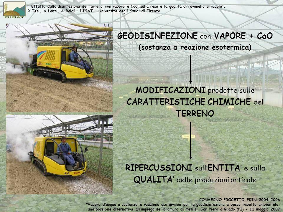 GEODISINFEZIONE con VAPORE + CaO (sostanza a reazione esotermica)
