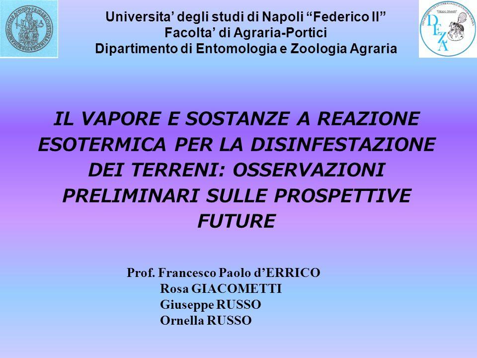 Universita' degli studi di Napoli Federico II Facolta' di Agraria-Portici Dipartimento di Entomologia e Zoologia Agraria