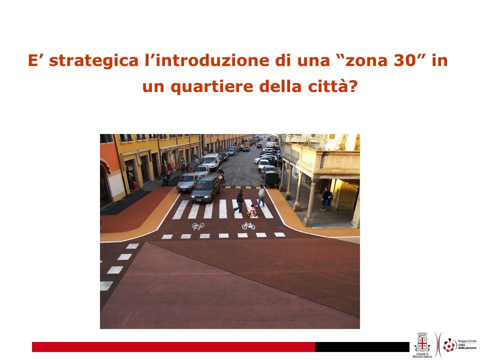 E' strategica l'introduzione di una zona 30 in un quartiere della città