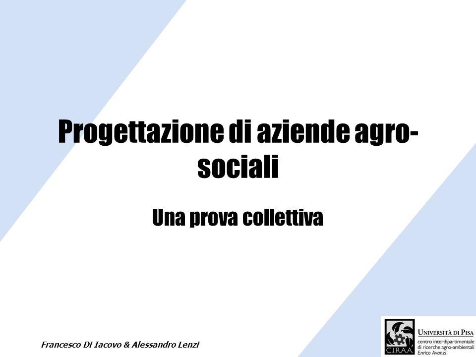 Progettazione di aziende agro-sociali