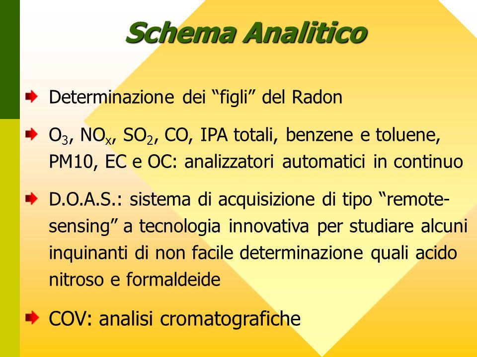 Schema Analitico COV: analisi cromatografiche