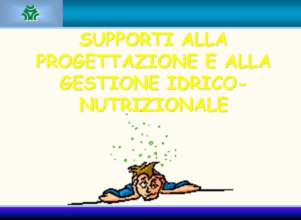 SUPPORTI ALLA PROGETTAZIONE E ALLA GESTIONE IDRICO-NUTRIZIONALE