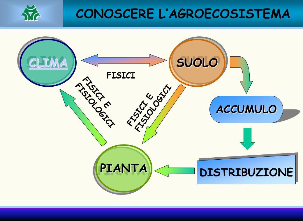 CONOSCERE L'AGROECOSISTEMA