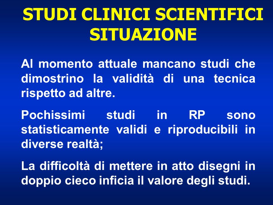 STUDI CLINICI SCIENTIFICI