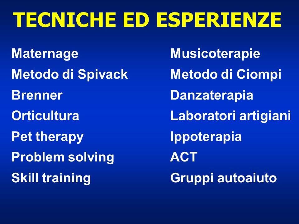 TECNICHE ED ESPERIENZE