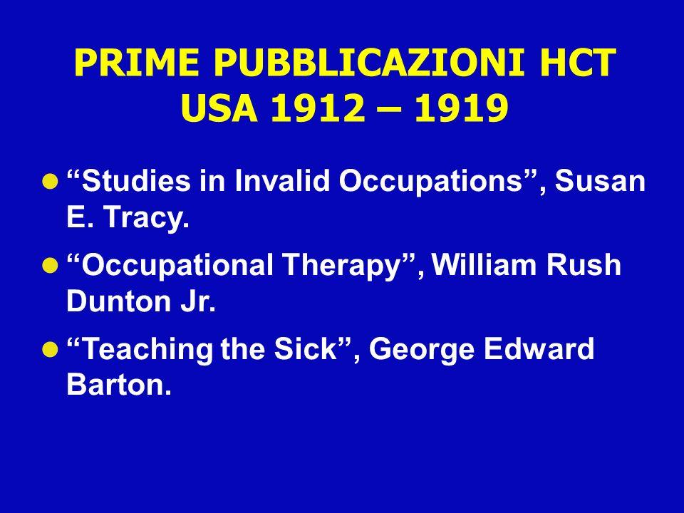 PRIME PUBBLICAZIONI HCT USA 1912 – 1919