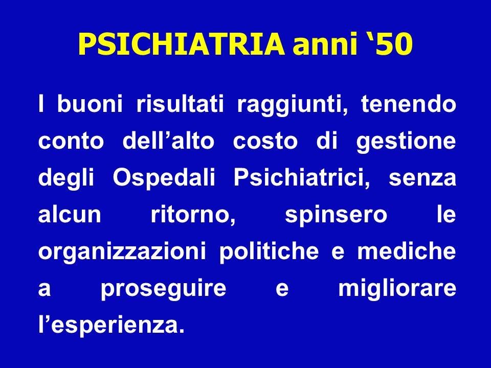 PSICHIATRIA anni '50