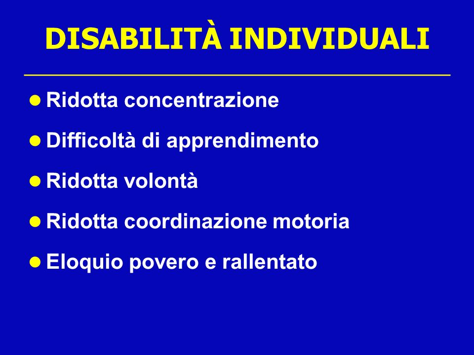 DISABILITÀ INDIVIDUALI