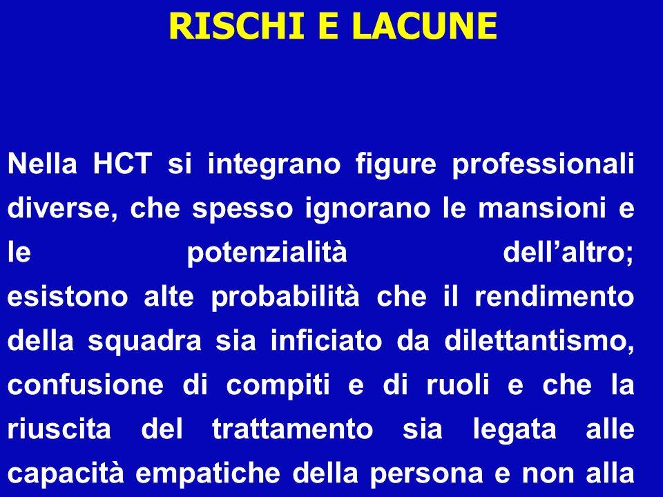 RISCHI E LACUNE