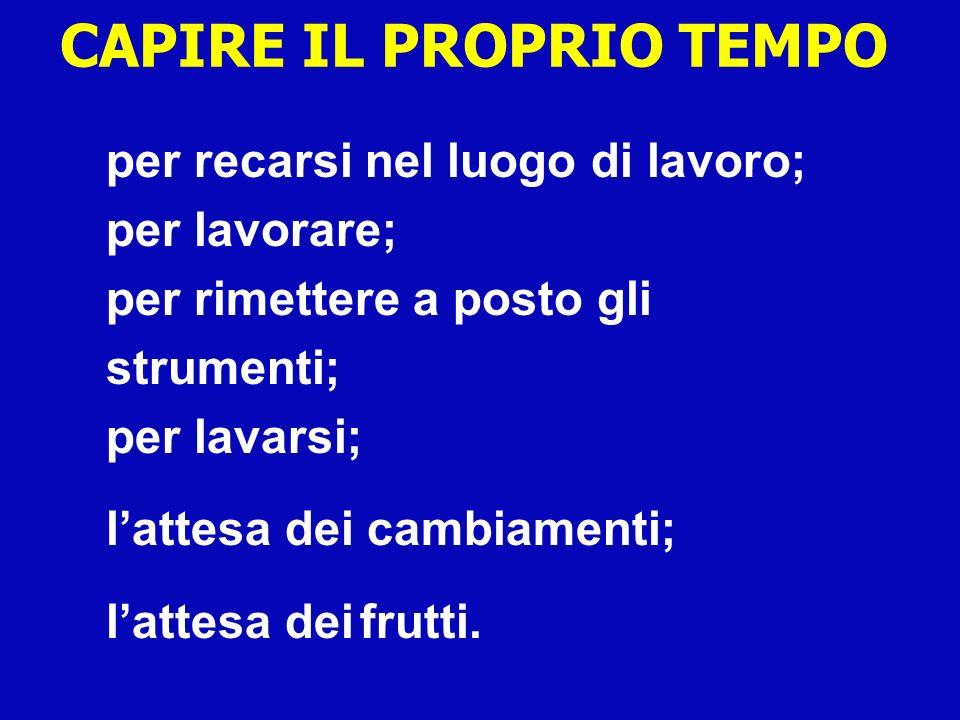 CAPIRE IL PROPRIO TEMPO