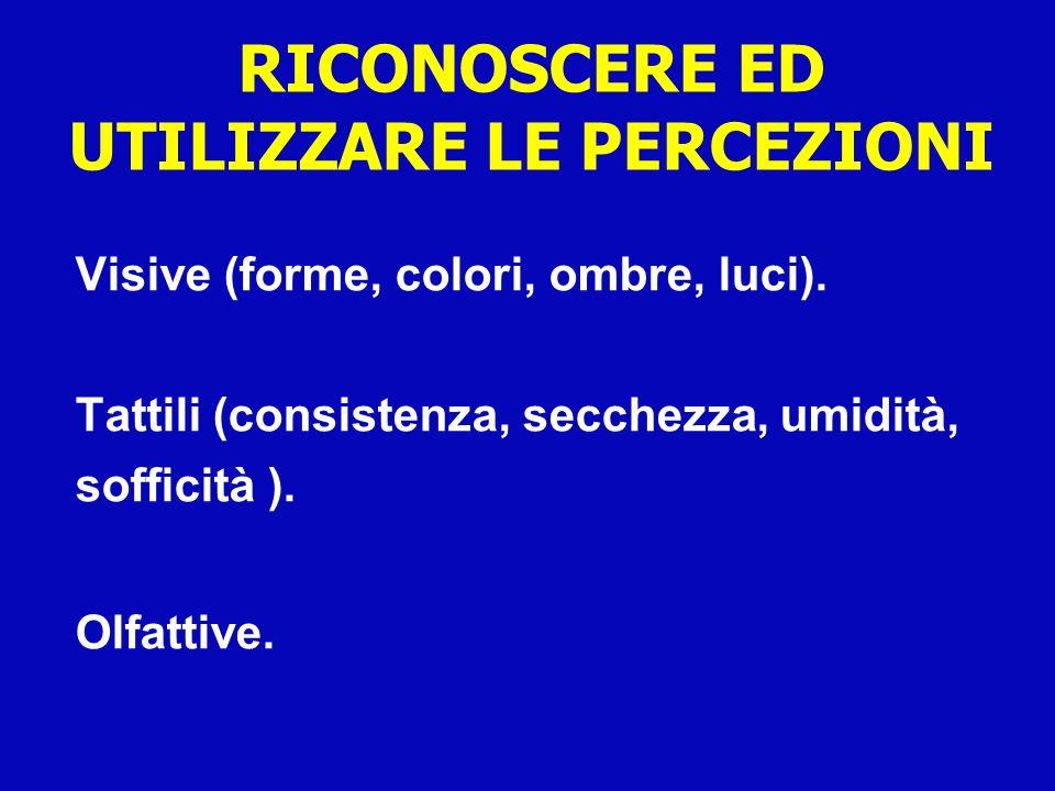 RICONOSCERE ED UTILIZZARE LE PERCEZIONI