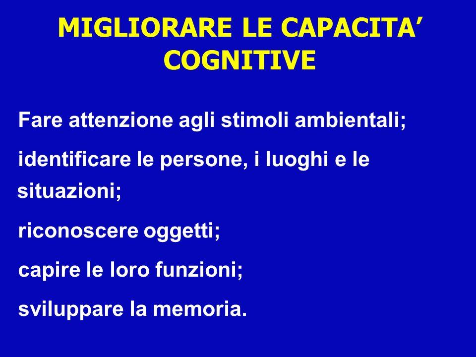 MIGLIORARE LE CAPACITA' COGNITIVE