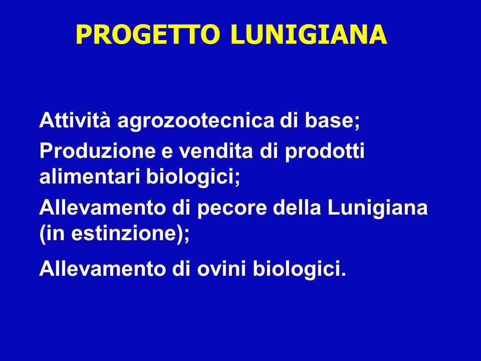 PROGETTO LUNIGIANA Attività agrozootecnica di base;