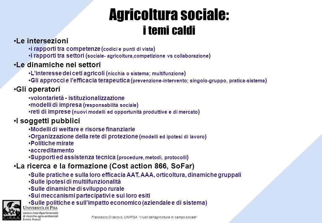 Agricoltura sociale: i temi caldi
