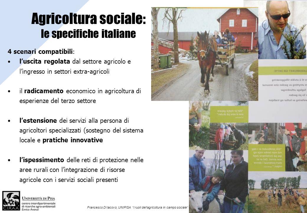 Agricoltura sociale: le specifiche italiane