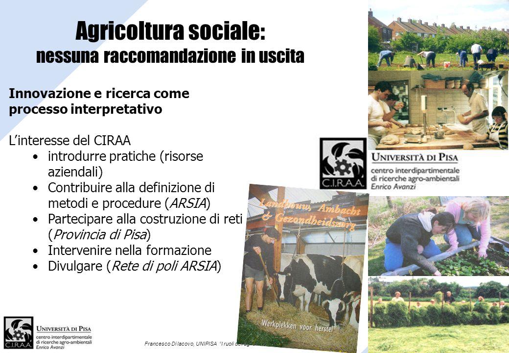 Agricoltura sociale: nessuna raccomandazione in uscita