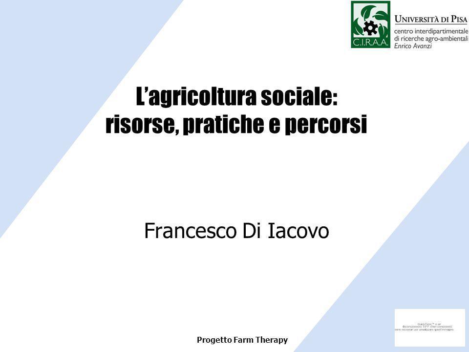L'agricoltura sociale: risorse, pratiche e percorsi