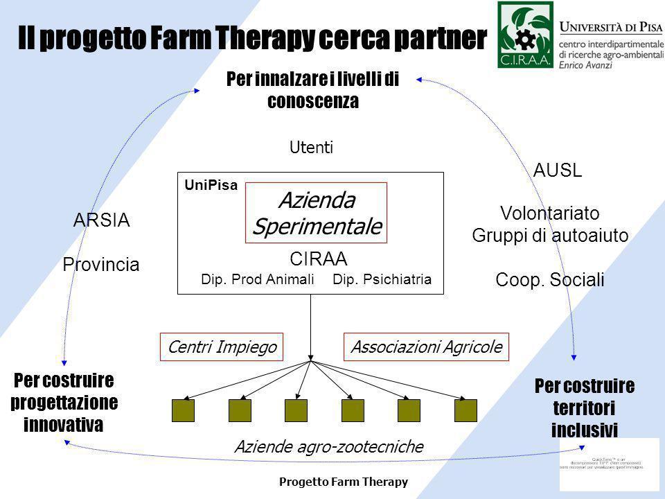 Il progetto Farm Therapy cerca partner
