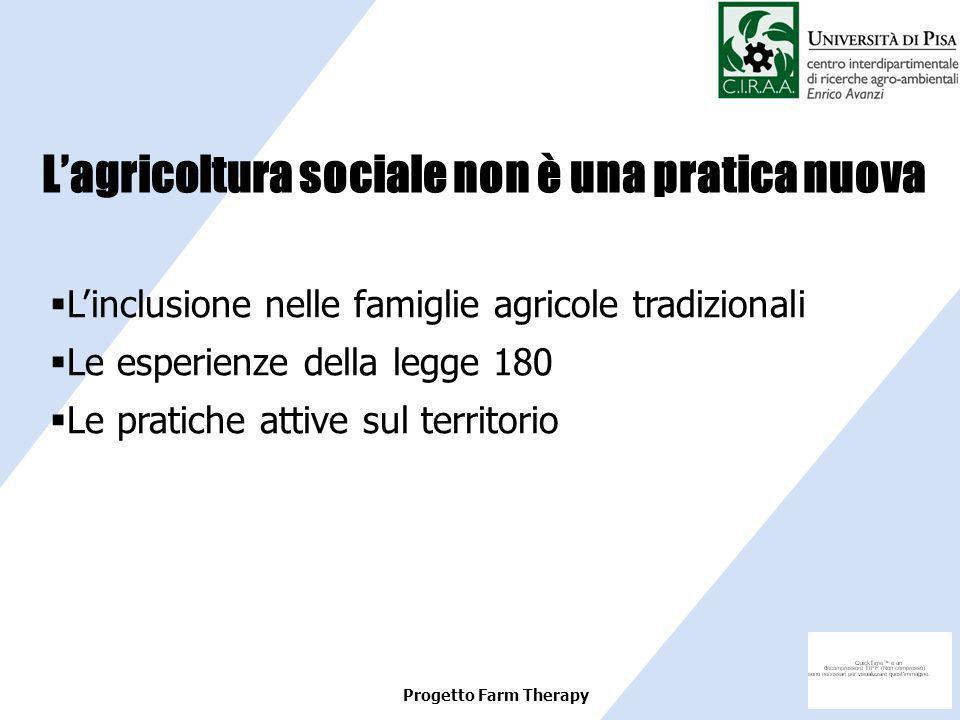 L'agricoltura sociale non è una pratica nuova