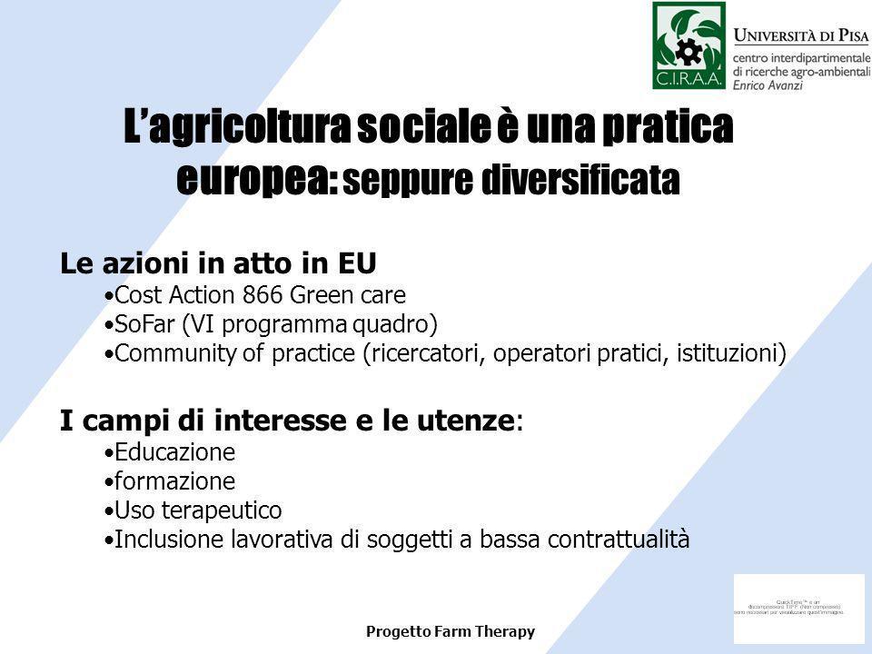 L'agricoltura sociale è una pratica europea: seppure diversificata