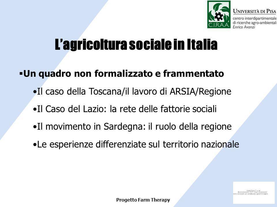L'agricoltura sociale in Italia