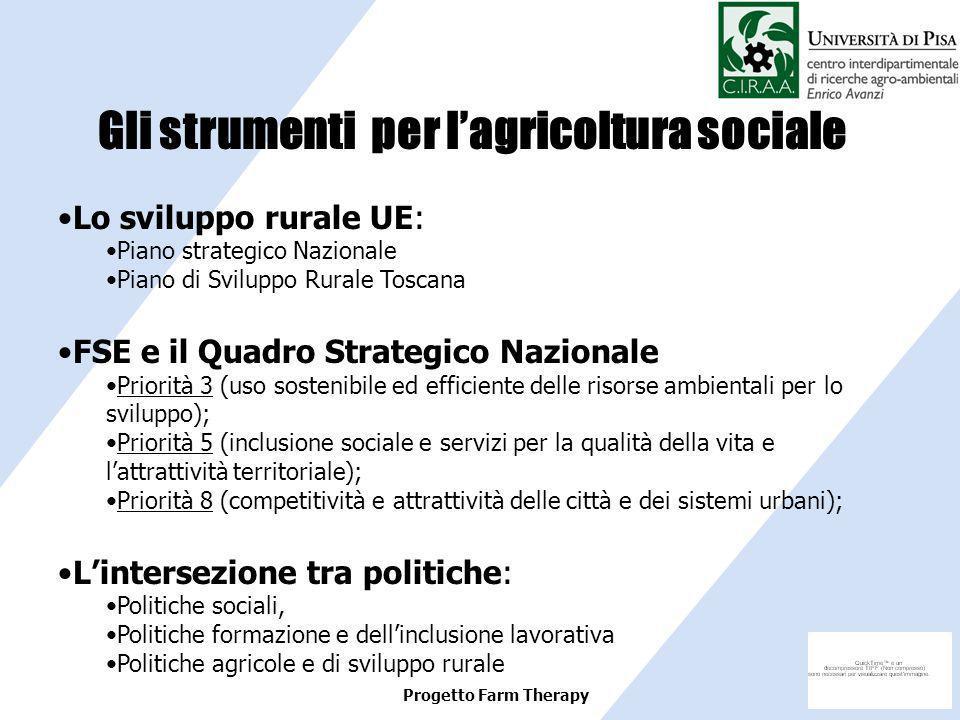 Gli strumenti per l'agricoltura sociale